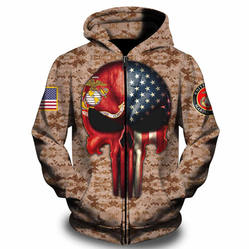 **(OFFICIAL-U.S.MARINE-VETERANS-ZIPPERED-HOODIES/CLASSIC-PATROITIC-FLAG-PUNISHER-SKULL & CLASSIC-MARINES-DIGITAL-CAMO.DESIGN & OFFICIAL-MARINES-LOGOS/CUSTOM-DETAILED-3D-GRAPHIC-PRINTED-DOUBLE-SIDED-DESIGN/WARM-PREMIUM-ZIPPERED-U.S.MARINE-HOODIES)**