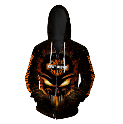 **(OFFICIAL-HARLEY-DAVIDSON-MOTORCYCLE-ZIPPERED-SKULL-HOODIES/3D-GRAPHIC-PRINTED-NEON-GLOWING-SKULL-DESIGN/FEATURING-OFFICIAL-CUSTOM-HARLEY-LOGOS & OFFICIAL-CLASSIC-HARLEY-COLORS/3D-DOUBLE-SIDED-GRAPHIC-DESIGN/WARM-PREMIUM-HARLEY-RIDING-HOODIES)**