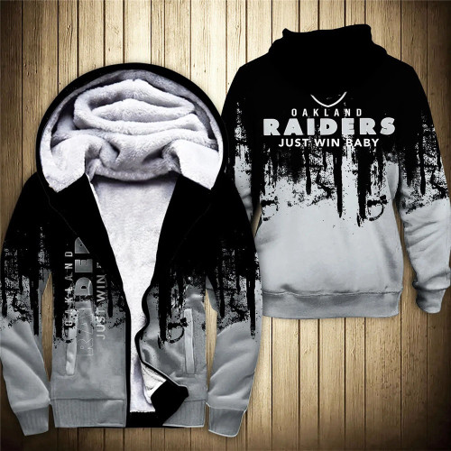 **(OFFICIAL-N.F.L.OAKLAND-RAIDERS-FLEECE-ZIPPERED-HOODIES & JUST-WIN-BABY/OFFICIAL-RAIDERS-TEAM-LOGOS & OFFICIAL-CLASSIC-RAIDERS-TEAM-COLORS/CUSTOM-DETAILED-3D-GRAPHIC-DOUBLE-SIDED-PRINTED/WARM-PREMIUM-FLEECE-LINED-RAIDERS-TEAM/GAME-DAY-HOODIES)**