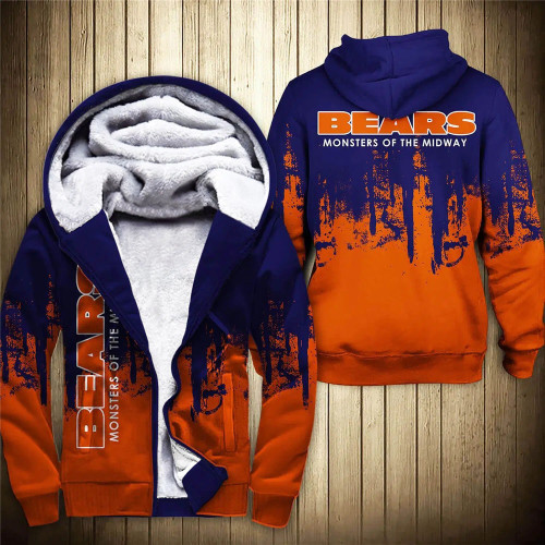**(OFFICIAL-N.F.L.CHICAGO-BEARS-FLEECE-ZIPPERED-HOODIES & MONSTERS-OF-THE-MIDWAY/OFFICIAL-BEARS-TEAM-LOGOS & OFFICIAL-CLASSIC-BEARS-TEAM-COLORS/CUSTOM-DETAILED-3D-GRAPHIC-DOUBLE-SIDED-PRINTED/WARM-PREMIUM-FLEECE-LINED-BEARS-TEAM/GAME-DAY-HOODIES)**