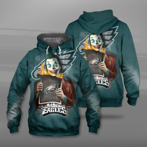 **(OFFICIAL-N.F.L.PHILADELPHIA-EAGLES-TEAM-PULLOVER-HOODIES & THE-JOKER-MOVIE-CHARACTER/CUSTOM-3D-GRAPHIC-PRINTED-DOUBLE-SIDED-DESIGN/OFFICIAL-CLASSIC-EAGLES-LOGOS/OFFICIAL-EAGLES-TEAM-COLORS/WARM-PREMIUM-OFFICIAL-EAGLES-TEAM-PULLOVER-HOODIE)**