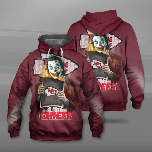 **(OFFICIAL-N.F.L.KANSAS-CITY-CHIEFS-TEAM-PULLOVER-HOODIES & THE-JOKER-MOVIE-CHARACTER/CUSTOM-3D-GRAPHIC-PRINTED-DOUBLE-SIDED-DESIGN/OFFICIAL-CLASSIC-CHIEFS-LOGOS/OFFICIAL-CHIEFS-TEAM-COLORS/WARM-PREMIUM-OFFICIAL-CHIEFS-TEAM-PULLOVER-HOODIES)**