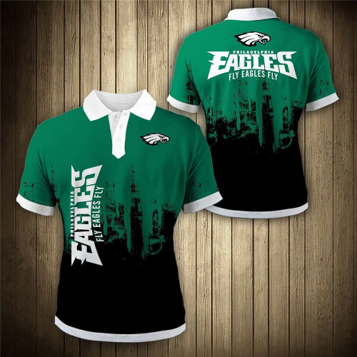 **(OFFICIAL-NEW-N.F.L.PHILADELPHIA-EAGLES-TRENDY-TEAM-POLO-SHIRTS/CUSTOM-3D-EAGLES-OFFICIAL-LOGOS & OFFICIAL-CLASSIC-EAGLES-TEAM-COLORS/DETAILED-CUSTOM-3D-GRAPHIC-PRINTED-DOUBLE-SIDED-DESIGN/PREMIUM-N.F.L.EAGLES-GAME-DAY-TEAM-FASHION-POLO-SHIRTS)**
