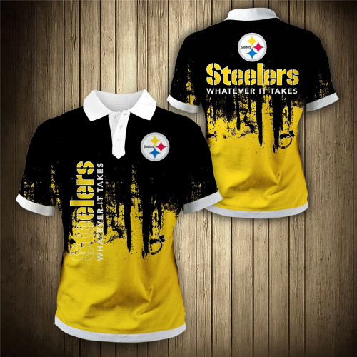 **(OFFICIAL-N.F.L.PITTSBURGH-STEELERS-TRENDY-TEAM-POLO-SHIRTS/CUSTOM-3D-STEELERS-OFFICIAL-LOGOS & OFFICIAL-CLASSIC-STEELERS-TEAM-COLORS/CUSTOM-DETAILED-3D-GRAPHIC-PRINTED-DOUBLE-SIDED-DESIGN/PREMIUM-N.F.L.STEELERS-GAME-DAY-TEAM-FASHION-POLO-SHIRTS)**