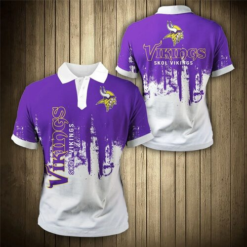 **(OFFICIAL-N.F.L.MINNESOTA-VIKINGS-TRENDY-TEAM-POLO-SHIRTS/CUSTOM-3D-VIKINGS-OFFICIAL-LOGOS & OFFICIAL-CLASSIC-VIKINGS-TEAM-COLORS/CUSTOM-DETAILED-3D-GRAPHIC-PRINTED-DOUBLE-SIDED-DESIGN/PREMIUM-N.F.L.VIKINGS-GAME-DAY-TEAM-FASHION-POLO-SHIRTS)**