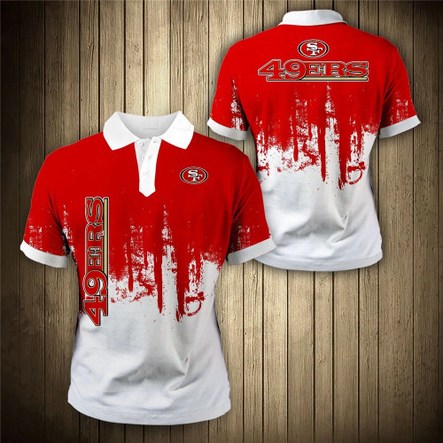 **(OFFICIAL-N.F.L.SAN-FRANCISCO-49ERS-TRENDY-TEAM-POLO-SHIRTS/CUSTOM-3D-49ERS-OFFICIAL-LOGOS & OFFICIAL-CLASSIC-49ERS-TEAM-COLORS/CUSTOM-DETAILED-3D-GRAPHIC-PRINTED-DOUBLE-SIDED-DESIGN/PREMIUM-N.F.L.49ERS-GAME-DAY-TEAM-FASHION-SPORT-POLO-SHIRTS)**