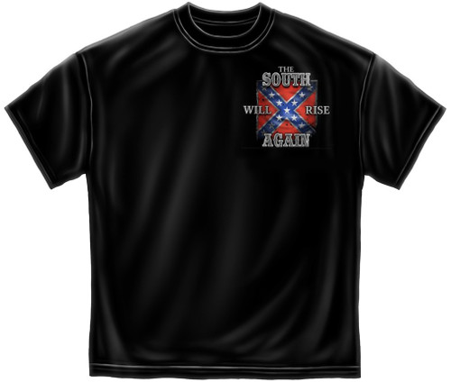 """(NEW-LICENSED,""""THIS-FLAG-MAY-FADE,BUT-THE-GLORY-NEVER-WILL"""",VERY-NICE-GRAPHIC-PRINTED-PREMIUM-DOUBLE-SIDED-REBEL-TEES:)"""