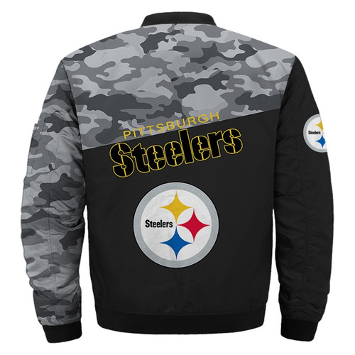**(OFFICIAL-N.F.L.PITTSBURGH-STEELERS-CAMO.FLIGHT-JACKETS/CLASSIC-OFFICIAL-STEELERS-TEAM-COLORS & OFFICIAL-STEELERS-TEAM-LOGOS-JACKET/CUSTOM-3D-ALL-OVER-GRAPHIC-PRINTED-DOUBLE-SIDED-DESIGN/WARM-NEW-PREMIUM-N.F.L.STEELERS-TEAM-TRENDY-CAMO.JACKETS)**