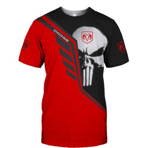 **(OFFICIAL-DODGE-RAM-STYLISH-TEE-SHIRTS & CLASSIC-PUNISHER-SKULL/OFFICIAL-DODGE-TWO-TONE-COLORS & OFFICIAL-CLASSIC-DODGE-RAM-LOGOS/NICE-CUSTOM-3D-GRAPHIC-PRINTED-DOUBLE-SIDED-ALL-OVER-DESIGN/TRENDY-PREMIUM-CUSTOM-DODGE-RAM-TEES)**