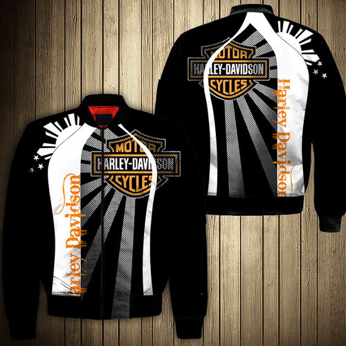 **(OFFICIAL-HARLEY-DAVIDSON-MOTORCYCLE-BIKERS-FLIGHT-JACKETS/CUSTOM-DETAILED-3D-GRAPHIC-PRINTED-DOUBLE-SIDED-DESIGN/CLASSIC-OFFICIAL-CUSTOM-HARLEY-LOGOS & CLASSIC-OFFICIAL-HARLEY-BLACK,WHITE & ORANGE-COLOR-DESIGN/WARM-PREMIUM-HARLEY-BIKERS-RIDING-FLIGHT-JACKETS)**