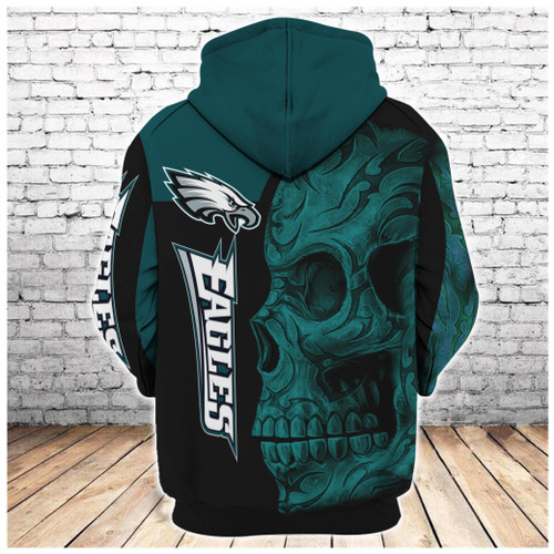 **(OFFICIAL-N.F.L.PHILADELPHIA-EAGLES-PULLOVER-HOODIES & BIG-EAGLES-GREEN-TRIBAL-SKULL/OFFICIAL-CUSTOM-3D-EAGLES-LOGOS & OFFICIAL-EAGLES-TEAM-COLORS/CUSTOM-3D-GRAPHIC-PRINTED-DOUBLE-SIDED-ALL-OVER-DESIGN/WARM-PREMIUM-N.F.L.EAGLES-TEAM-HOODIES)**