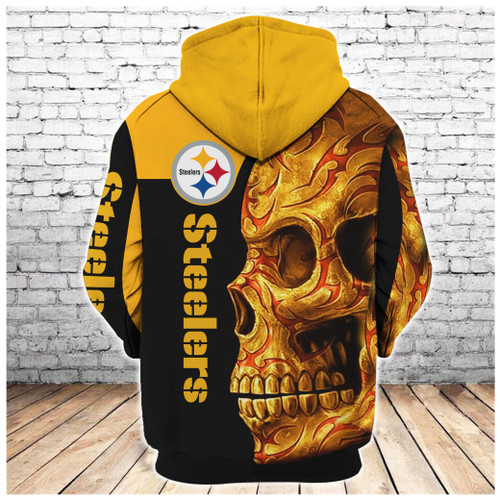 **(OFFICIAL-N.F.L.PITTSBURGH-STEELERS-PULLOVER-HOODIES/BIG-YELLOW-STEELERS-TRIBAL-SKULL/OFFICIAL-CUSTOM-3D-STEELERS-LOGOS & OFFICIAL-STEELERS-TEAM-COLORS/CUSTOM-3D-GRAPHIC-PRINTED-DOUBLE-SIDED-DESIGN/WARM-PREMIUM-N.F.L.STEELERS-TEAM-HOODIES)**