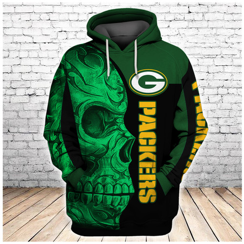 **(OFFICIAL-N.F.L.GREEN-BAY-PACKERS-PULLOVER-HOODIES/BIG-GREEN-PACKERS-TRIBAL-SKULL/OFFICIAL-CUSTOM-3D-PACKERS-LOGOS & OFFICIAL-PACKERS-TEAM-COLORS/CUSTOM-3D-GRAPHIC-PRINTED-DOUBLE-SIDED-DESIGN/WARM-PREMIUM-N.F.L.PACKERS-TEAM-PULLOVER-HOODIES)**