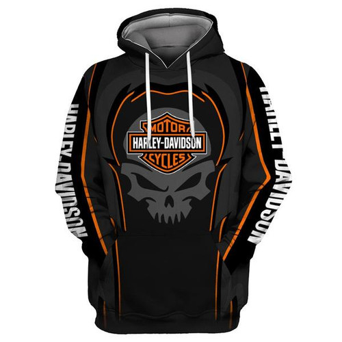 **(OFFICIAL-HARLEY-DAVIDSON-MOTORCYCLE-PULLOVER-HOODIES/CUSTOM-DETAILED-3D-GRAPHIC-PRINTED-PUNISHER-SKULL-DESIGN/FEATURING-OFFICIAL-CUSTOM-HARLEY-3D-LOGOS & OFFICIAL-CLASSIC-HARLEY-COLORS-ALL-OVER-DESIGN/WARM-PREMIUM-HARLEY-RIDING-PULLOVER-HOODIES)**