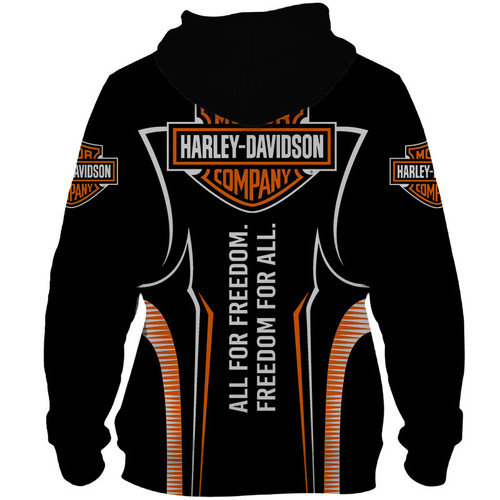 **(OFFICIAL-HARLEY-DAVIDSON-MOTORCYCLE-PULLOVER-HOODIES/CUSTOM-DETAILED-3D-GRAPHIC-PRINTED-FREEDOM-FOR-ALL/FEATURING-OFFICIAL-CUSTOM-HARLEY-3D-LOGOS & OFFICIAL-CLASSIC-HARLEY-BLACK & ORANGE-COLORS/WARM-PREMIUM-HARLEY-RIDING-PULLOVER-HOODIES)**