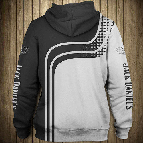 **(OFFICIAL-JACK-DANIEL'S-OLD-NO.7-BRAND-WHISKEY-PULLOVER-HOODIES & CUSTOM-3D-GRAPHIC-PRINTED-JACK-DANIELS-ARM-SLEEVES/CUSTOM-3D-DOUBLE-SIDED-BLACK & WHITE-TWO-TONE-COLORED-DESIGN/WARM-PREMIUM-TRENDY-BAR-DRINKING & PARTY-PULLOVER-HOODIES)**