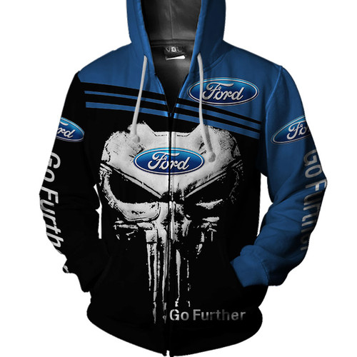 **(OFFICIAL-FORD-ZIPPERED-HOODIES/GO-FUTHER & CLASSIC-PUNISHER-SKULL/OFFICIAL-CLASSIC-FORD-EMBLEMS/CUSTOM-3D-DETAILED-GRAPHIC-PRINTED-DOUBLE-SIDED-ALL-OVER & FORDS-GO-FUTHER-GRAPHIC-PRINT-SLEEVE-DESIGN/WARM-PREMIUM-OFFICIAL-FORD-ZIPPERED-HOODIES)**
