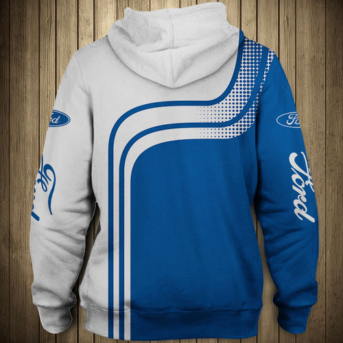 **(OFFICIAL-NEW-FORD-ZIPPERED-HOODIES/NICE-CUSTOM-3D-OFFICIAL-FORD-GRAPHIC-LOGOS & OFFICIAL-CLASSIC-FORD-BLUE & WHITE-COLORS/DETAILED-3D-GRAPHIC-PRINTED-DOUBLE-SIDED-ALL-OVER-DESIGN-ITEM/WARM-PREMIUM-TRENDY-FORD-ZIPPERED-DEEP-POCKET-HOODIES)**