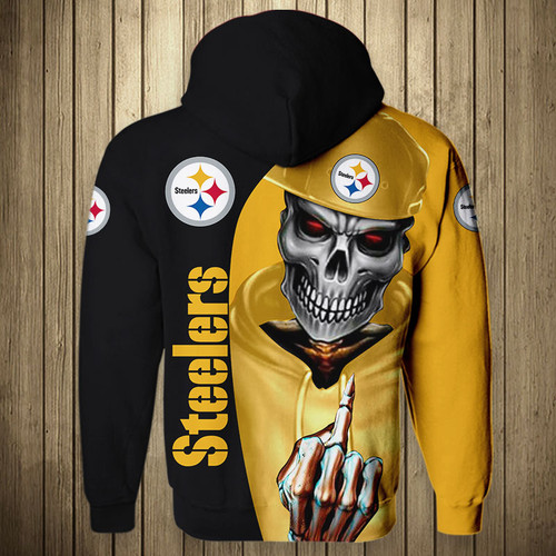 **(OFFICIAL-N.F.L.PITTSBURGH-STEELERS-TEAM-PULLOVER-HOODIES/CUSTOM-3D-GRAPHIC-PRINTED-DOUBLE-SIDED-ALL-OVER-SKULL-DESIGN & GRAPHIC-STEELERS-LOGOS & OFFICIAL-STEELERS-TEAM-COLORS/WARM-PREMIUM-OFFICIAL-N.F.L.STEELERS-TEAM-PULLOVER-GAME-DAY-HOODIES)**