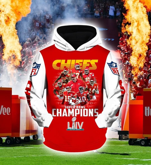 **(OFFICIAL-N.F.L.KANSAS-CITY-CHIEFS-FASHION-PULLOVER-TEAM-HOODIES & 2020-SUPER-BOWL-LIV-CHAMPIONS/CUSTOM-3D-GRAPHIC-PRINTED-DESIGN/OFFICIAL-CHIEFS-TEAM-LOGOS & OFFICIAL-CHIEFS-TEAM-COLORS/WARM-PREMIUM-OFFICIAL-N.F.L.CHIEFS-TEAM-PULLOVER-HOODIES)**