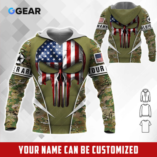 **(OFFICIAL-U.S.ARMY-VETERANS-DIGITAL-CAMO.PREMIUM-PULLOVER-HOODIES & COMES-3D-CUSTOMIZED-WITH YOUR-NAME-OR-ANY-MILITARY-UNIT-ON-BOTH-ARM-SLEEVES/CLASSIC-PATRIOTIC-FLAG-PUNISHER-SKULL & CLASSIC-ARMY-DIGITAL-CAMO.DESIGN & ARMY-OLIVE-GREEN-COLOR)**
