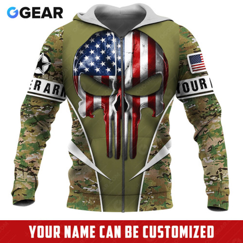 **(OFFICIAL-U.S.ARMY-VETERANS-DIGITAL-CAMO.PREMIUM-ZIPPERED-HOODIES & COMES-3D-CUSTOMIZED-WITH YOUR-NAME-OR-ANY-MILITARY-UNIT-ON-BOTH-ARM-SLEEVES/CLASSIC-PATRIOTIC-FLAG-PUNISHER-SKULL & CLASSIC-ARMY-DIGITAL-CAMO.DESIGN & ARMY-OLIVE-GREEN-COLOR)**