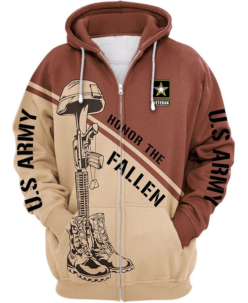 **(OFFICIAL-U.S.ARMY-HONOR-THE-FALLEN-ZIPPERED-HOODIES & OFFICIAL-U.S.ARMY-LOGOS-DESIGN/NICE-CUSTOM-DETAILED-3D-GRAPHIC-PRINTED-DOUBLE-SIDED-DESIGN/WARM-PREMIUM-U.S.ARMY-DEEP-POCKET-ZIPPERED-HOODIES)**