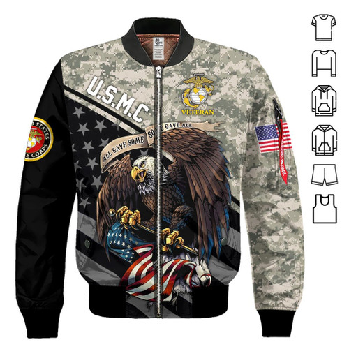 **(OFFICIAL-U.S.MARINE-VETERANS-DIGITAL-CAMO.FLIGHT-JACKETS & BIG-WINGED-BALD-EAGLE-AND-PATRIOTIC-FLAG-GRAPHIC-PRINTED-DOUBLE-SIDED-CUSTOM-3D-DESIGN/OFFICIAL-CLASSIC-MARINES-LOGOS/WARM-PREMIUM-U.S.MARINES-VETERANS-MILITARY-FLIGHT-JACKETS)**