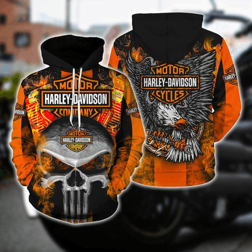 **(OFFICIAL-HARLEY-DAVIDSON-MOTORCYCLE-BIKER-PULLOVER-HOODIES/CLASSIC-HARLEY-BIKER-SKULL & EAGLE/CLASSIC-OFFICIAL-CUSTOM-HARLEY-DAVIDSON-LOGOS & OFFICIAL-CLASSIC-HARLEY-BLACK & ORANGE-COLORS/WARM-PREMIUM-RIDING-HARLEY-BIKERS-PULLOVER-HOODIES)**