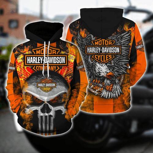 **(OFFICIAL-HARLEY-DAVIDSON-MOTORCYCLE-BIKER-PULLOVER-HOODIES/CLASSIC-HARLEY-BIKER-SKULL & EAGLE/CLASSIC-OFFICIAL-CUSTOM-HARLEY-DAVIDSON-LOGOS & OFFICIAL-CLASSIC-HARLEY-BLACK & ORANGE-COLORS/WARM-PREMIUM-RIDING-HARLEY-BIKERS-PULLOVER-HOODIES)**