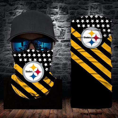 OFFICIAL-N.F.L.PITTSBURGH STEELERS-FACE & GAITER-NECK-SCARF/MULTI-USE-NFL.SPORT-FACE-MASK