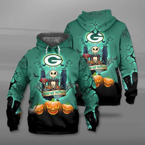 **(OFFICIAL-N.F.L.GREEN-BAY-PACKERS-PULLOVER-HOODIES & CLASSIC-JACK-SKELLINGTON-ANIMATED-HORROR-CHARACTER/OFFICIAL-PACKERS-TEAM-LOGOS & OFFICIAL-PACKERS-TEAM-COLORS/ALL-OVER-CUSTOM-GRAPHIC-3D-PRINTED-DESIGN/WARM-PREMIUM-PACKERS-PULLOVER-HOODIES)**