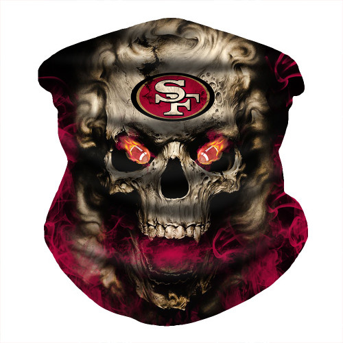 OFFICIAL-N.F.L.SAN-FRANCISCO-49ERS-FACE-MASK & GAITER-NECK-SCARFS/MULTI-USE-NFL.SPORT-FACE-MASK!