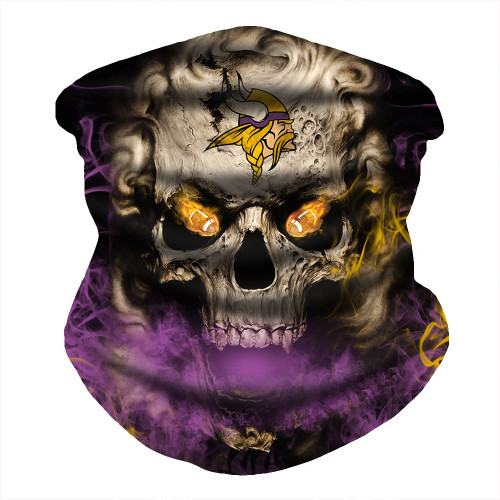 OFFICIAL-N.F.L.MINNESOTA-VIKINGS-FACE-MASK & GAITER-NECK-SCARFS/MULTI-USE-NFL.SPORT-FACE-MASK!
