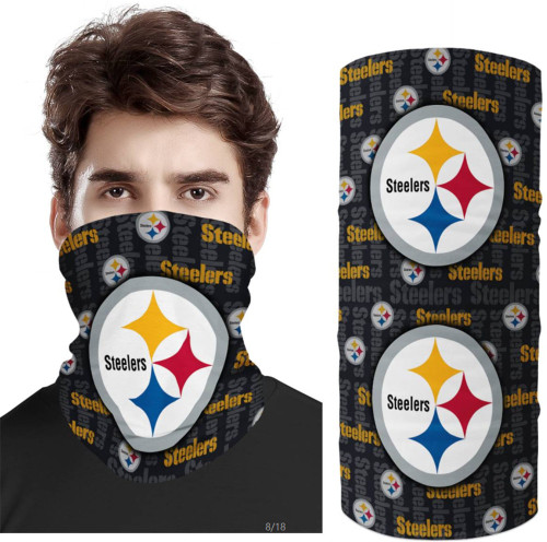 OFFICIAL-N.F.L.PITTSBURGH-STEELERS-FACE-MASK & GAITER-NECK-SCARFS/MULTI-USE-NFL.TEAM-SPORT-FACE-MASK!