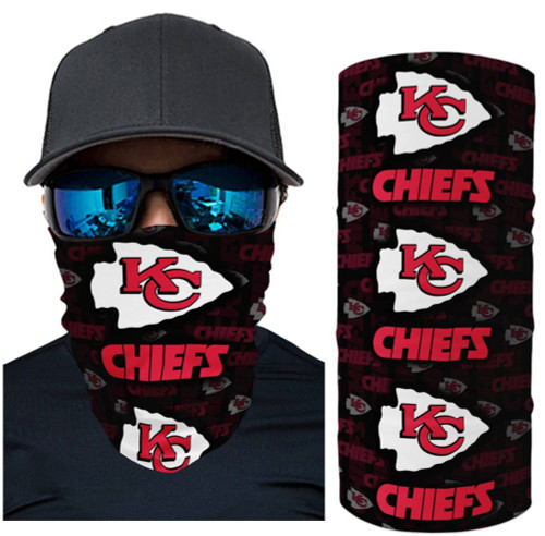 OFFICIAL-N.F.L.KANSAS-CITY-CHIEFS-FACE-MASK & GAITER-NECK-SCARFS/MULTI-USE-NFL.TEAM-SPORT-FACE-MASK!