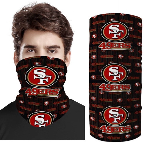 OFFICIAL-N.F.L.SAN-FRANCISCO-49ERS-TEAM-FACE-MASK & GAITER-NECK-SCARFS/MULTI-USE-NFL.TEAM-SPORT-FACE-MASK!