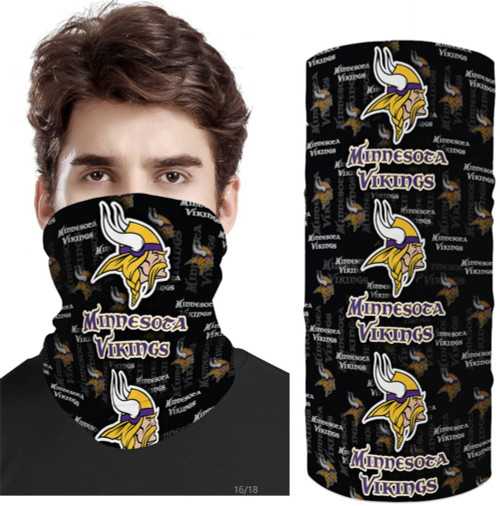 OFFICIAL-N.F.L.MINNESOTA-VIKINGS-TEAM-FACE-MASK & GAITER-NECK-SCARFS/MULTI-USE-NFL.TEAM-SPORT-FACE-MASK!