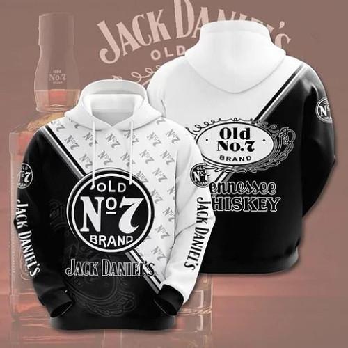 OFFICIAL-JACK-DANIELS-PULLOVER-HOODIE/CUSTOM-3D-JACK-DANIELS-NO.7-TENN.WHISKEY!!