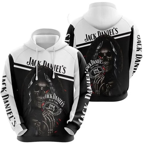 OFFICIAL-JACK-DANIELS-PULLOVER-HOODIES/CUSTOMIZED-3D-JACK-DANIELS-NO.7-GRIM-REAPER-SKULL-DESIGN