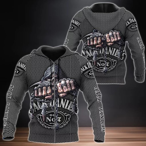 **(OFFICIAL-JACK-DANIELS-ZIPPERED-HOODIES & BIG-CLASSIC-JACK-DANIELS-HOODED-GRIM-REAPER-SKULL-CUSTOM-3D-DESIGN & REAPERS-GAME-OVER/ALL-IN-CLASSIC-TWO-TONE-MIDNIGHT-BLACK & BRILLANT-WHITE-COLORS & CLASSIC-OFFICIAL-JACK-DANIELS-OLD NO.7-LOGOS/NICE-CUSTOM-3D-GRAPHIC-PRINTED-DOUBLE-SIDED-ALL-OVER-DESIGN/WARM-PREMIUM-TRENDY-JACK-DANIELS-ZIPPERED-HOODIES)**