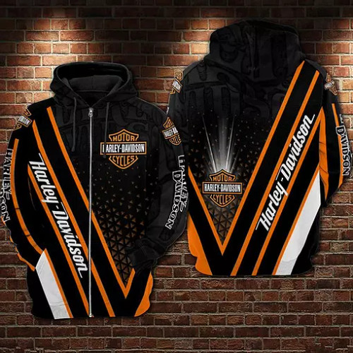 OFFICIAL-HARLEY-DAVIDSON-MOTORCYCLE-BIKERS-ZIPPERED-HOODIE/CUSTOMIZED-3D-GRAPHIC-PRINTED-DESIGN!