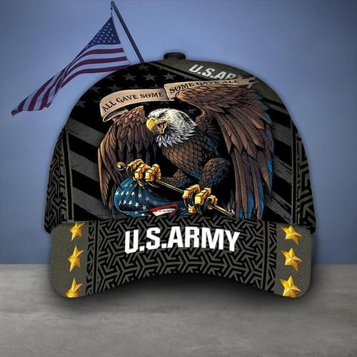 **(OFFICIAL-U.S.ARMY-VETERANS-HATS/CUSTOM-3D-GRAPHIC-PRINTED-PATRIOTIC-BIG-WINGED-BALD-EAGLE-DESIGN)**