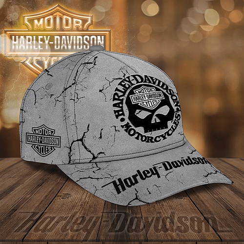 **(OFFICIAL-HARLEY-DAVIDSON-MOTORCYCLE-BIKER-HAT/NEW-CUSTOMIZED-GRAPHIC-3D-PRINTED-BIG-HARLEY-PUNISHER-SKULL-DESIGN)**