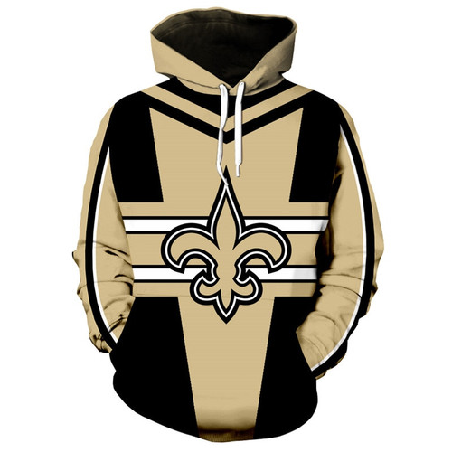 **(NEW-OFFICIALLY-LICENSED-N.F.L.NEW-ORLEANS-SAINTS-OFFICIAL-TEAM-HOODIES/NEW-CUSTOM-DETAILED-3D-GRAPHIC-PRINTED/PREMIUM-ALL-OVER-DOUBLE-SIDED-PRINT-DESIGN/OFFICIAL-SAINTS-TEAM-COLORS & CLASSIC-SAINTS-LOGOS/DEEP-POCKETED-PULLOVER-TEAM-HOODIES)**