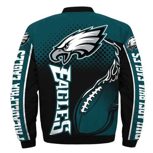 **(OFFICIAL-NEW-N.F.L.PHILADELPHIA-EAGLES-JACKETS/IN-OFFICIAL-EAGLES-TEAM-COLORS & OFFICIAL-CLASSIC-EAGLES-LOGOS-BOMBER/FLIGHT-JACKET & NICE-CUSTOM-3D-GRAPHIC-PRINTED-DOUBLE-SIDED-ALL-OVER-DESIGN/WARM-PREMIUM-N.F.L.EAGLES-TEAM-JACKETS)**