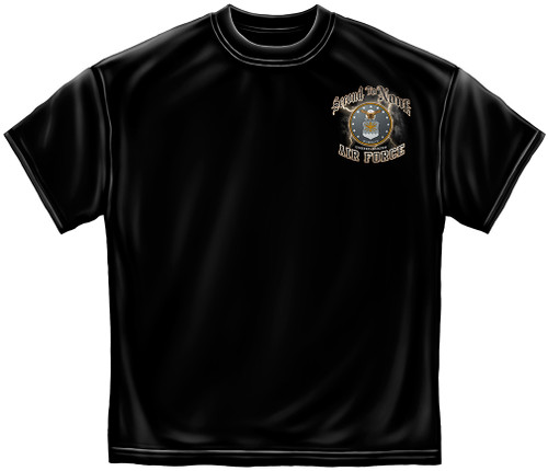 "**(NEW-OFFICIALLY-LICENSED-AIR-FORCE,""WE-ARE-SECOND-TO-NONE"",NICE-DOUBLE-SIDED-GRAPHIC-PRINTED-PREMIUM-TEES:)**"