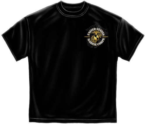 """**(OFFICIALLY-LICENSED,""""U.S.MARINES-BULLDOG/DRILLDOG-MASCOT & NEVER-RETREAT/NEVER-SURRENDER"""",NICE-DETAILED-GRAPHIC-PRINTED-PREMIUM-DOUBLE-SIDED-TEES:)**"""