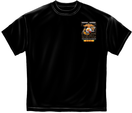 **(LICENSED-U.S.MARINES/MARINE-CORPS,EST.1775/SEMPER-FIDELIS,VIETNAM-VETERAN,NICE-CUSTOM-GRAPHIC-PRINTED/PREMIUM-DOUBLE-SIDED-TEES)**