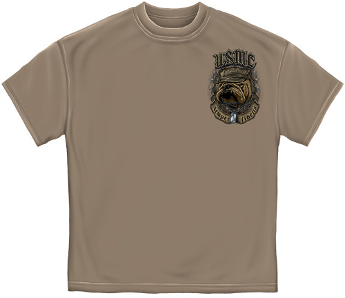 "**(OFFCIALLY-LICENSED,""U.S.M.C.-CROSSED-SABERS-WITH-SEMPER-FIDELIS & MARINES-MASCOT-DRILL/DEVIL-DOG & DOG-TAGS"",NICE-CUSTOM-GRAPHIC-PRINTED/PREMIUM-DOUBLE-SIDED-TEES:)**"